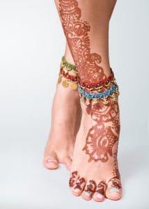 Henna Tattoo am Fuß