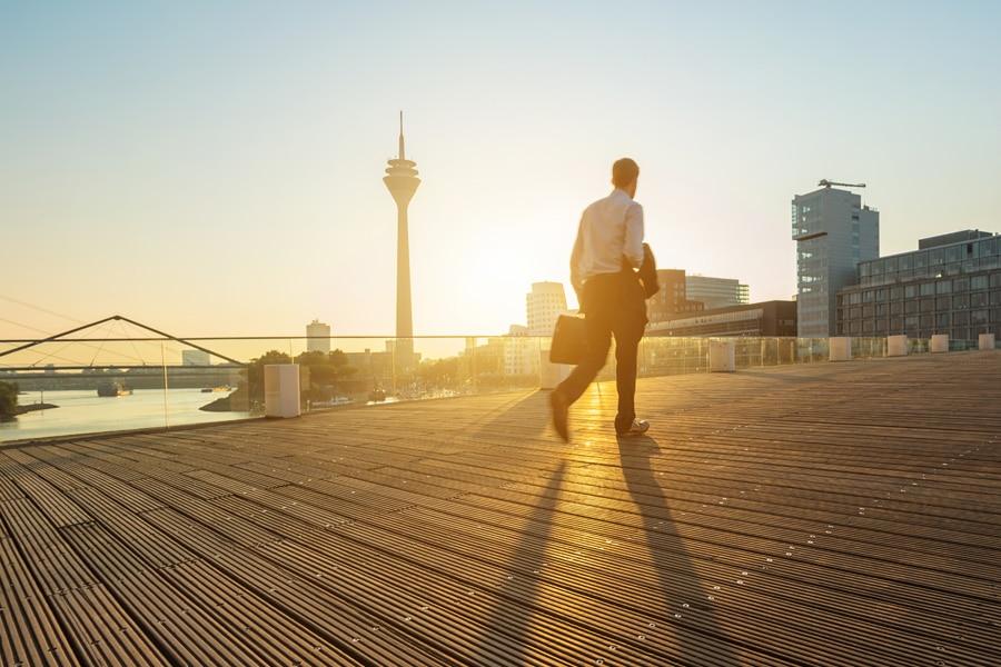 Zu Fuß gehen fürs Wohlbefinden
